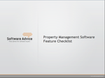 Property Management Software Feature Checklist